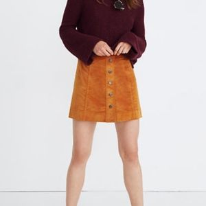 Madewell | Alondra Button Detail Mini Skirt
